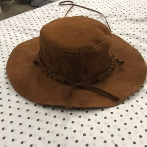 Accessories - Boho/Hippie braided suede like hat (nwot)